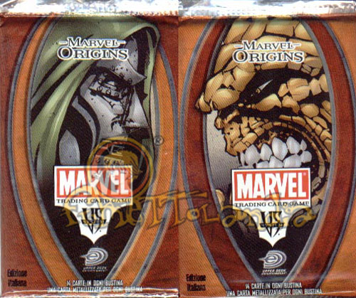 CARDS MARVEL VS SYSTEM MARVEL ORIGINS BUSTE ITALIANO