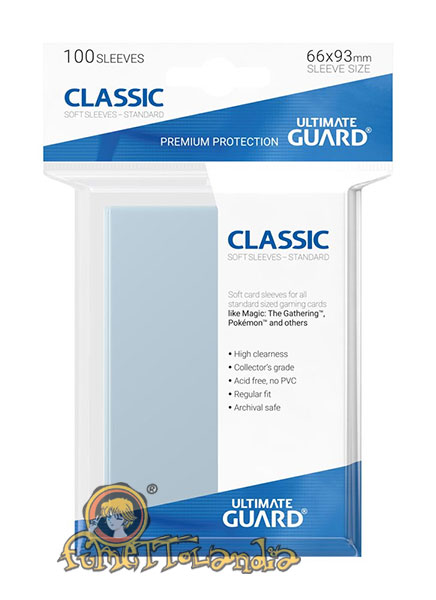 ULTIMATE GUARD CLASSIC SOFT SLEEVES STANDARD SIZE TRANSPARENT (1