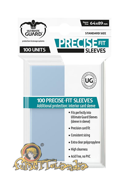 ULTIMATE GUARD PRECISE-FIT SLEEVES STANDARD SIZE TRANSPARENT