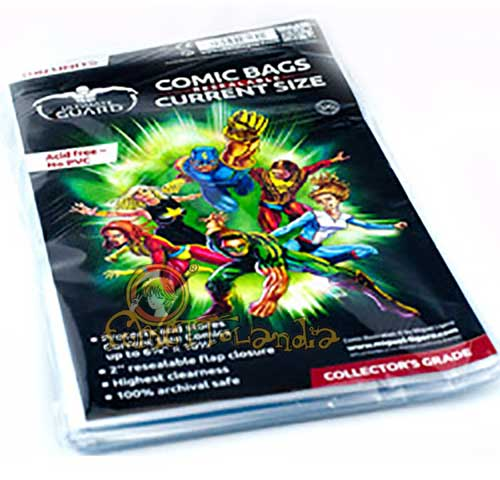 COMIC BAGS CURRENT SIZE RESEALABLE (100 PZ. 17,5 X 26,8)
