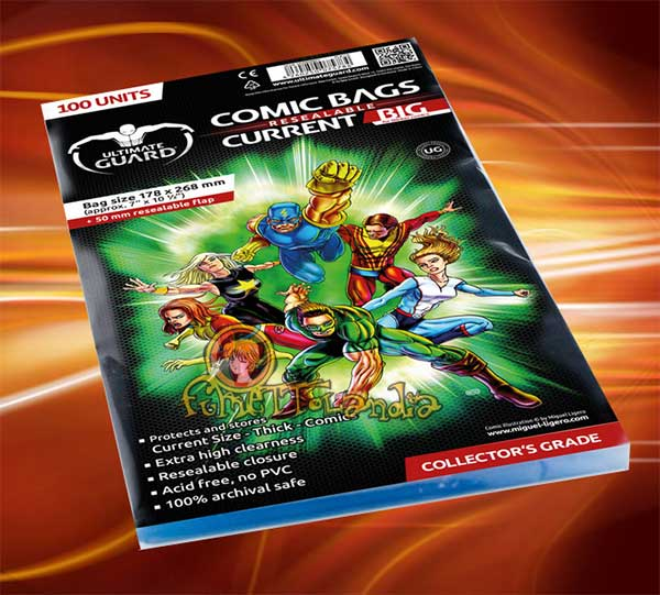 COMIC BAGS RESEALABLE CURRENT BIG (100 PZ. 17,80X26,80)