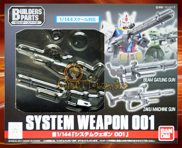 BUILDERS PARTS SYSTEM WEAPON 001 1/144 (7200)