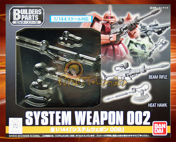 BUILDERS PARTS SYSTEM WEAPON 002 1/144 (6816)