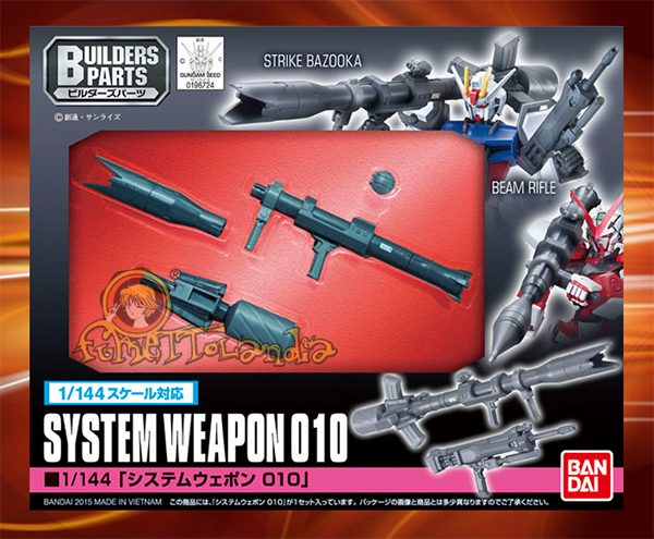 BUILDERS PARTS SYSTEM WEAPON 010 1/144 (25202)