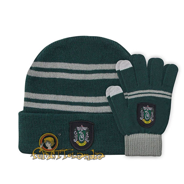 HARRY POTTER BEANIE & GLOVES SET FOR KIDS SLYTHERIN