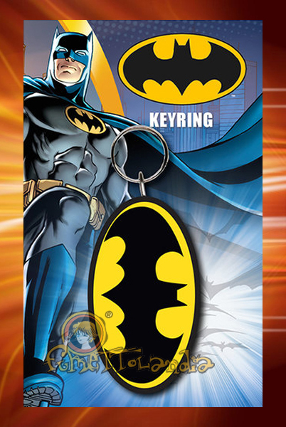 BATMAN LOGO RUBBER KEYRING