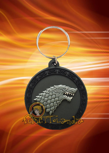 GAME OF THRONES RUBBER KEYCHAIN STARK