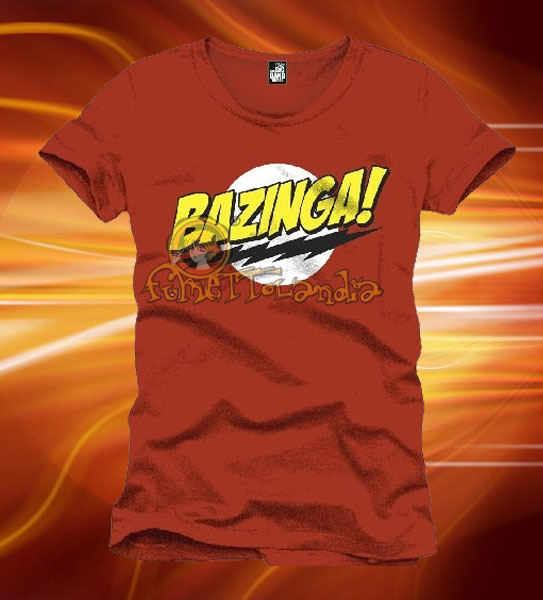 BIG BANG THEORY BAZINGA T-SHIRT RED (M)