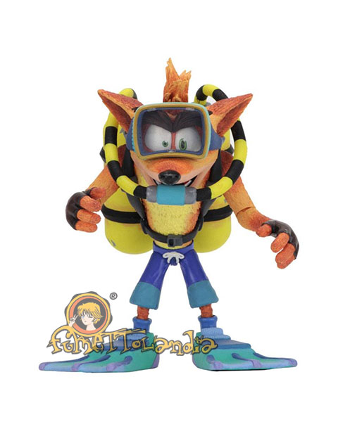 CRASH BANDICOOT DELUXE ACTION FIGURE SCUBA CRASH