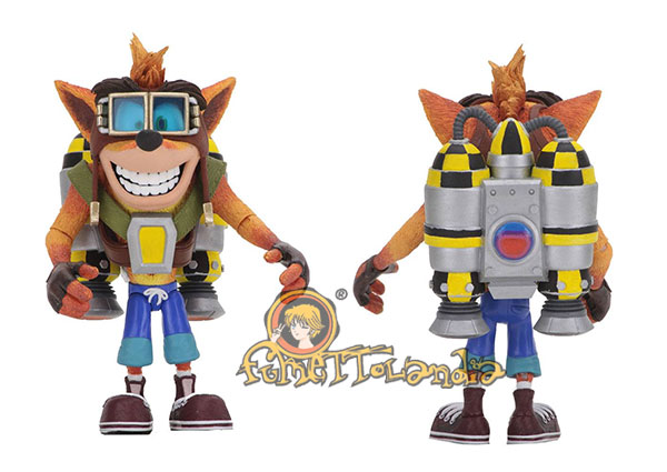 CRASH BANDICOOT DELUXE ACTION FIGURE CRASH WITH JETPACK