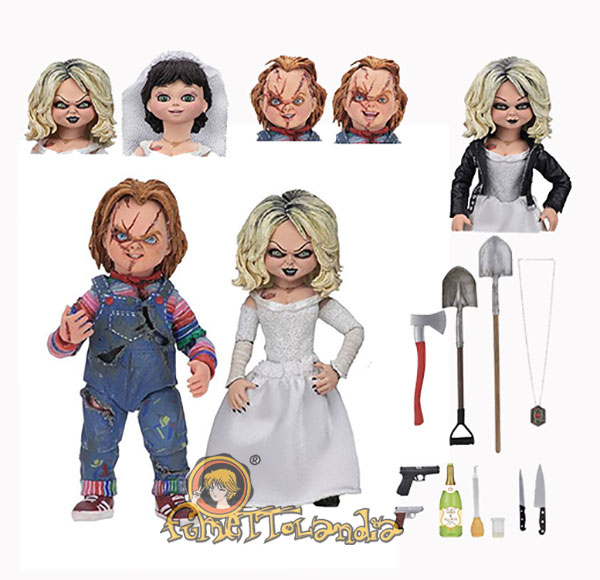 BRIDE OF CHUCKY ULTIMATE ACTION FIGURE 2-PACK CHUCKY & TIFFANY