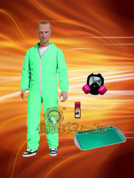 A.F. BREAKING BAD JESSE PINKMAN IN BLUE HAZMAT SUIT EXCLUSIVE