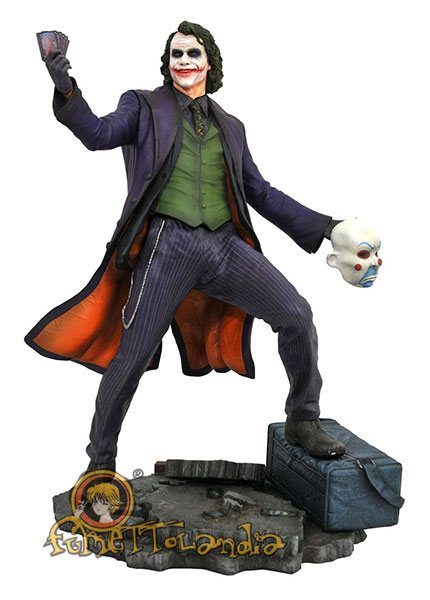 THE DARK KNIGHT DC MOVIE GALLERY PVC STATUE JOKER