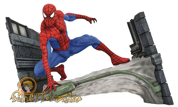 MARVEL COMIC GALLERY PVC STATUE SPIDER-MAN WEBBING