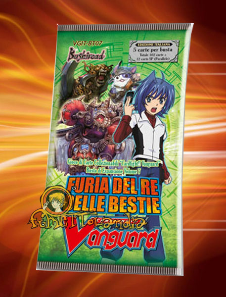 CARDFIGHT!! BT07 VANGUARD FURIA DEL RE DELLE BESTIE BUSTA