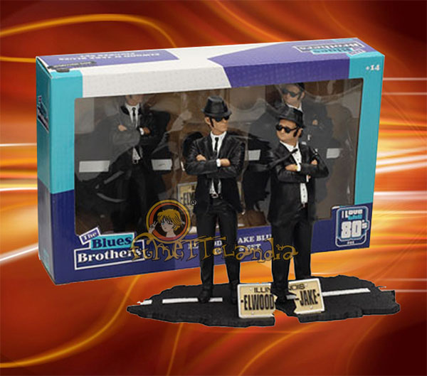 THE BLUES BROTHERS MOVIE ICONS STATUE 2-PACK JAKE & ELWOOD