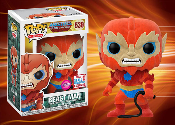 POP! TELEVISION #539 PVC MASTERS OF UNIVERSE BEAST MAN FLOCKED