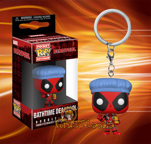 POCKET POP! KEYCHAIN BATHTIME DEADPOOL