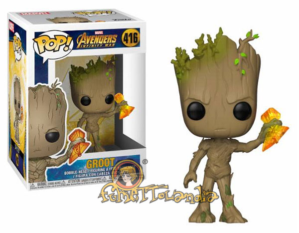 POP! MARVEL #416 PVC INFINITY WAR BOBBLE HEAD GROOT W/STORMBREAK
