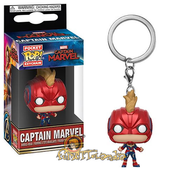 POCKET POP! KEYCHAIN CAPTAIN MARVEL CAPTAIN MARVEL W/HELMET