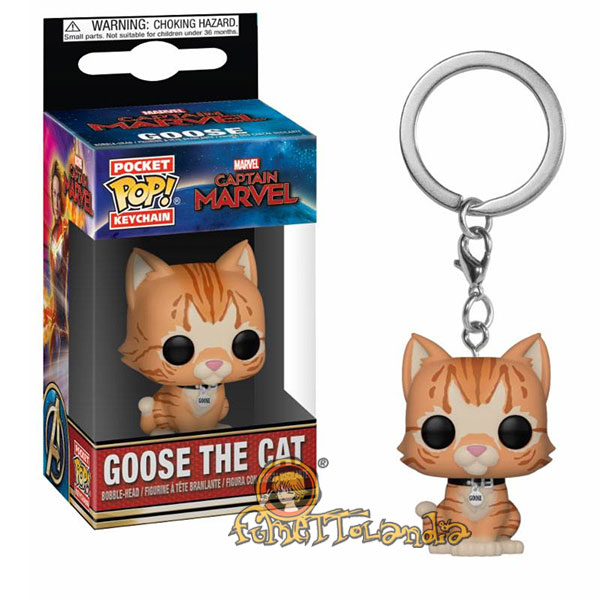 POCKET POP! KEYCHAIN CAPTAIN MARVEL GOOSE THE CAT