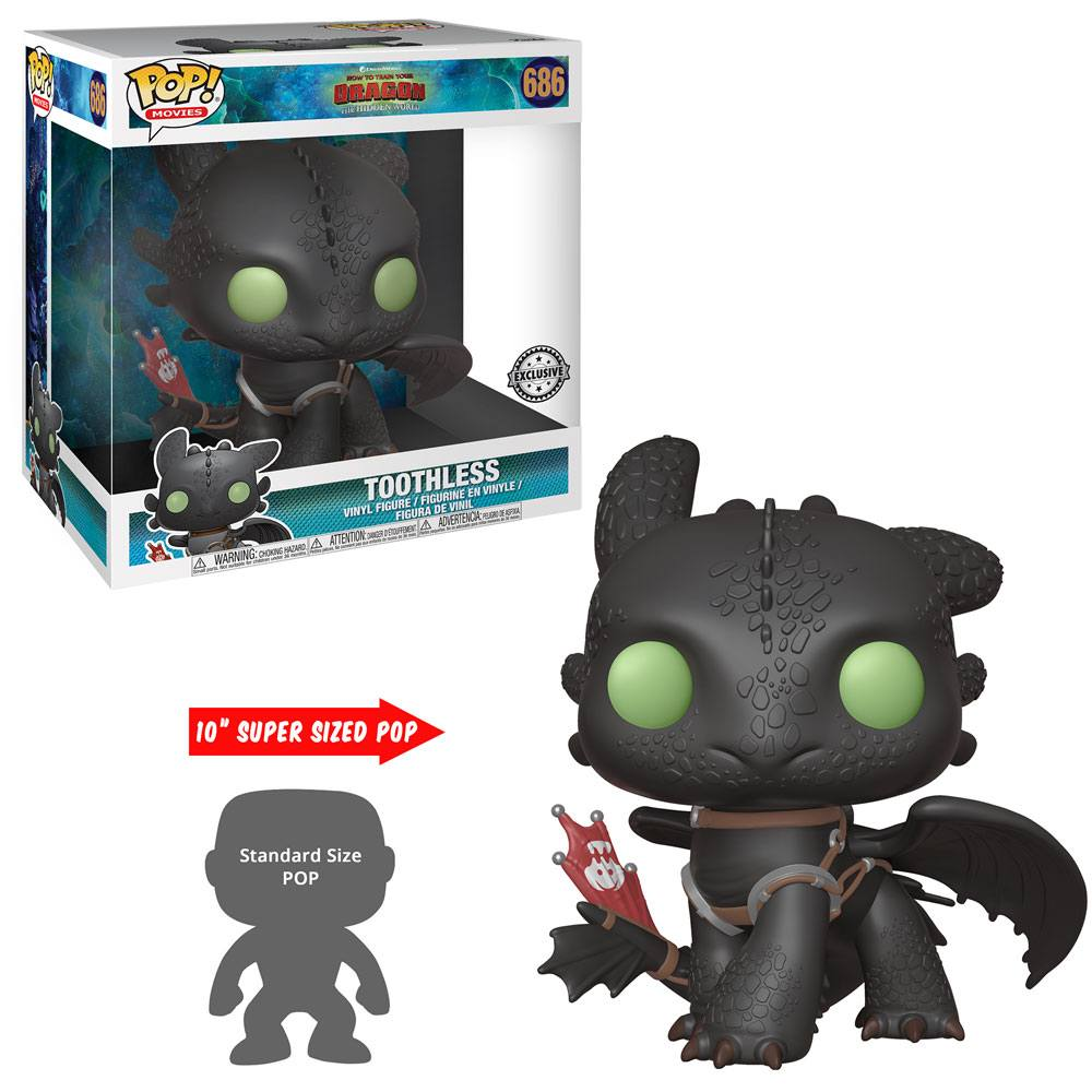 POP! DISNEY #??? PVC DRAGON TRAINER TOOTHLESS 25CM