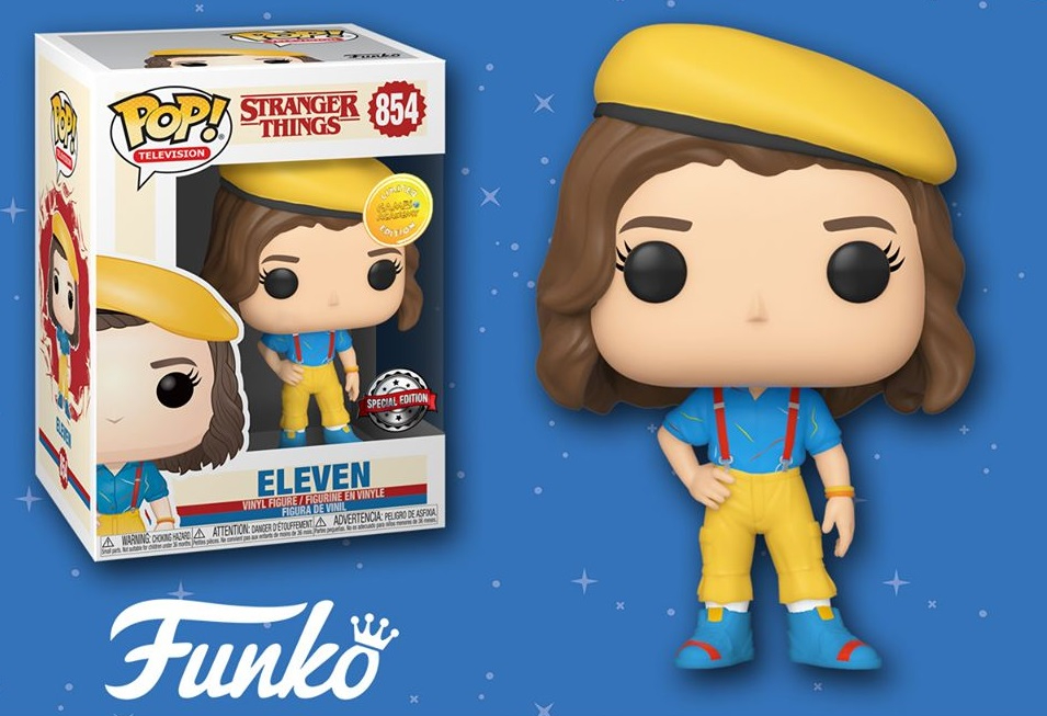 POP! TELEVISION #854 PVC STRANGER THINGS ELEVEN YELLOW OUTFIT
