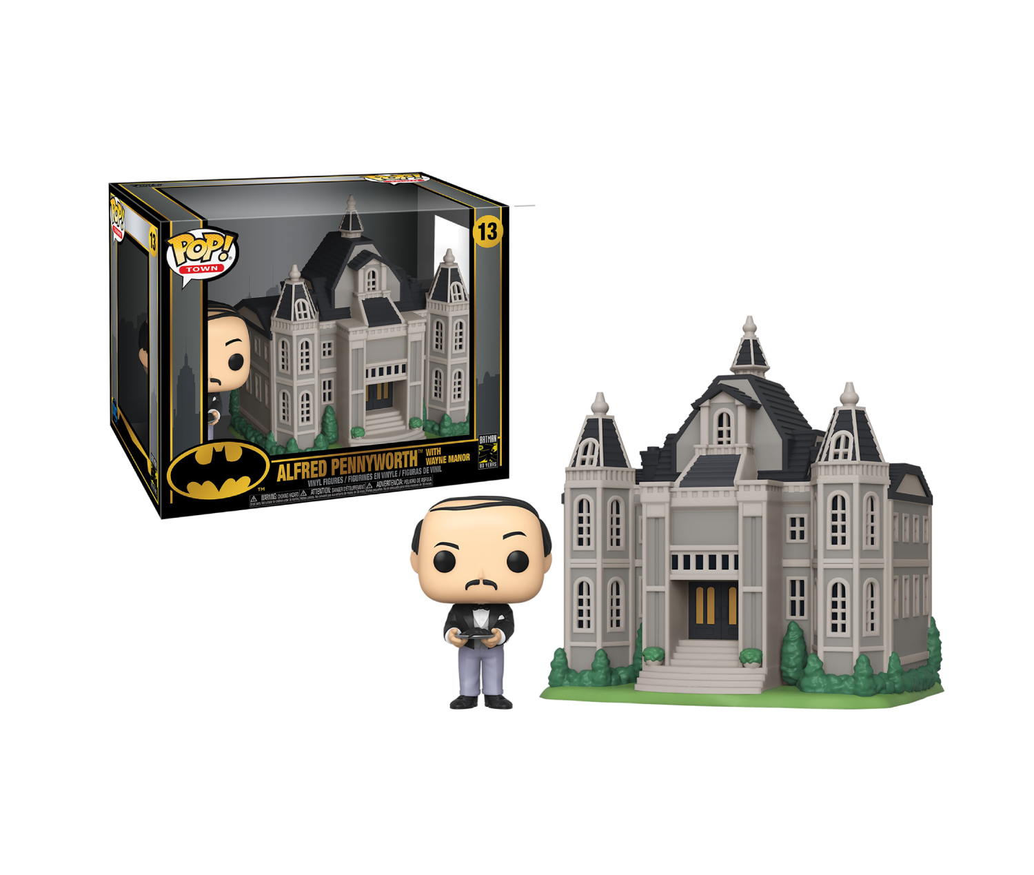 POP! TOWN #??? BATMAN 80TH VINYL FIGURE WAYNE MANOR W/ALFRED