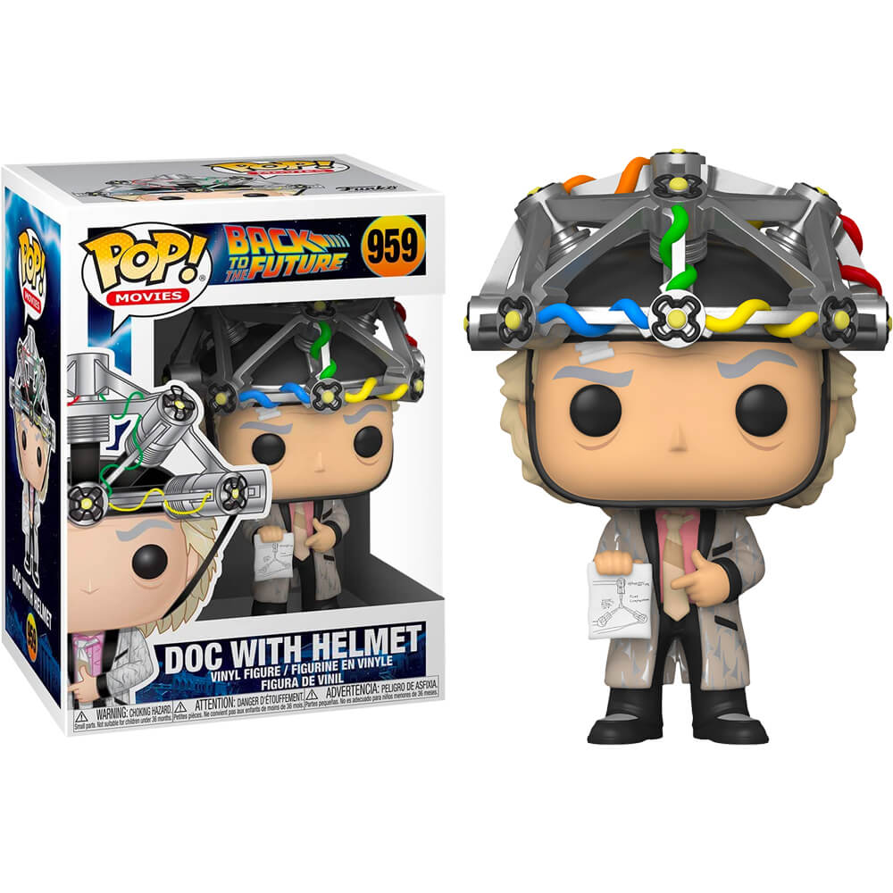 POP! MOVIES #??? PVC BACK TO THE FUTURE DOC W/HELMET