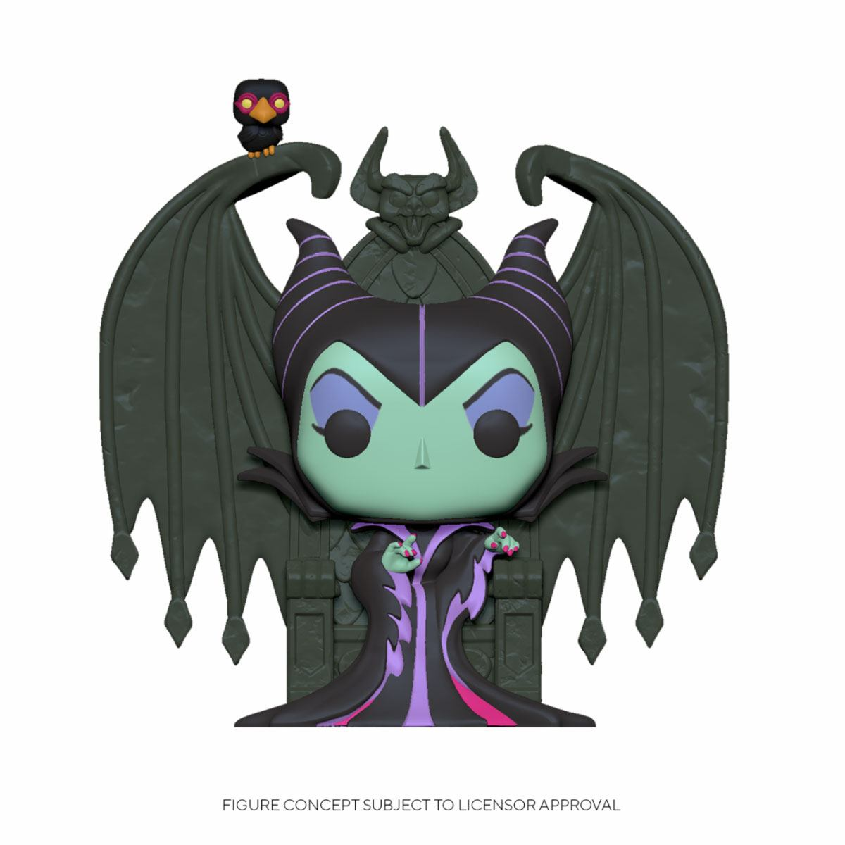 DISNEY POP! DELUXE MOVIES VINYL FIGURE MALEFICENT ON THRONE