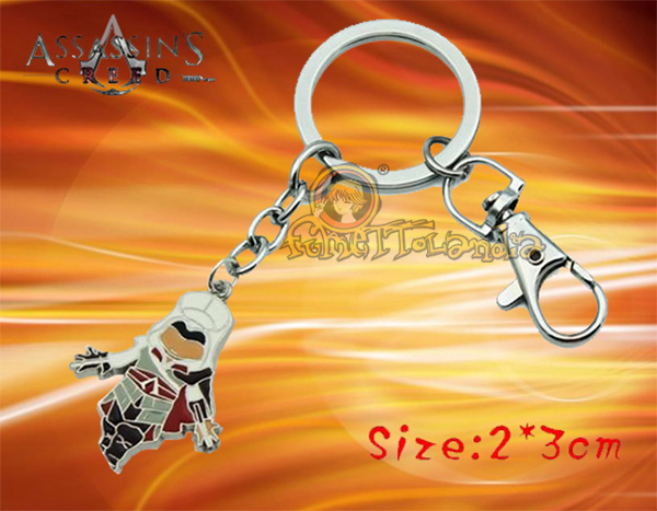 ASSASSIN CREED GAME SILVER ALLOY KEYCHAIN 123605