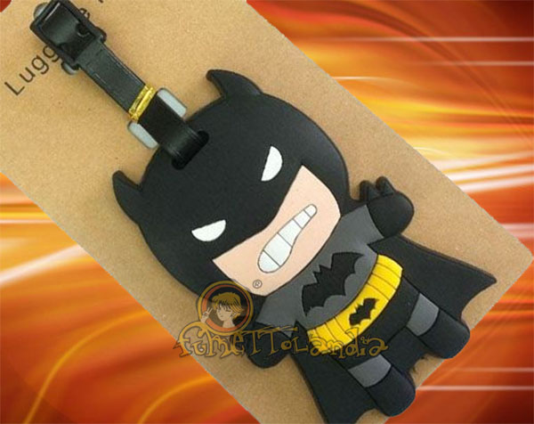 BATMAN SOFT PLASTIC BIG BAG KEYCHAIN 63176