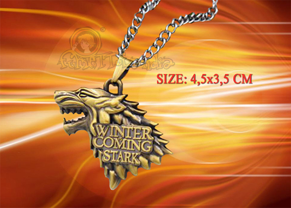 GAME OF THRONES MOVIE ANTIQUE GOLD ALLOY NECKLACE 129521