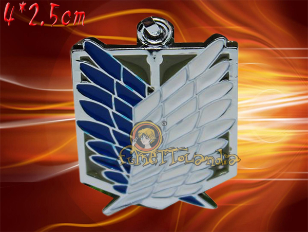 ATTACK ON TITAN ANIME SURVEY CORPS ALLOY NECKLACE 104411