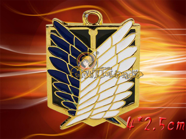 ATTACK ON TITAN ANIME SURVEY CORPS ALLOY NECKLACE 105090